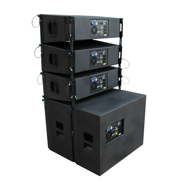 LA208LA18S LA208 dual 8 inch self powered line array system